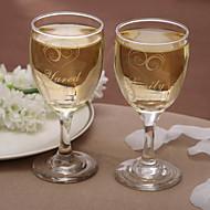 개인의 클래식 포도주 잔으로 한 잔 (2 세트)
