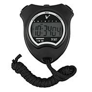 Preto Shockproof Wearable exterior Cronômetro com função de despertador