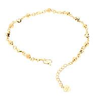 Dull Poolse Bead Heart Shaped Vergulde Bracelace
