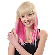 Lolita Wig Inspired by Zipper Blunt-cut Golden and Pink Mixed Color 48cm Punk
