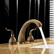 Kolmiosainen Kaksi kahvaa kolme reikää in Antiikkimessinki Kylpyhuone Sink hana