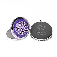 personalizado cromo favor espejo con cubierta de perlas de imitación (más colores)
