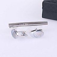 Gift Groomsman Personalized Cufflinks And Tie-bar