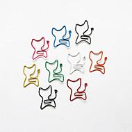 clips coloridos do estilo gato de papel (cor aleatória, 10-pack)