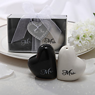 """Mr. & Mrs"" Keramisk Salt & Peber Shakers"
