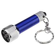 תאורה פנסים למחזיק מפתחות קל במיוחד / גודל קומפקטי / גודל קטן שימוש יומיומי סגסוגת אלומניום