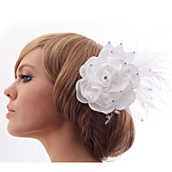 satijn/Kristallen/Tule/Imitatie Parel/Stof Vrouwen/Bloemenmeisje Helm Bruiloft/Speciale gelegenheden/Casual/Kantoor & Cariere/Outdoor