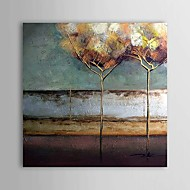 Hand-Painted Abstract Square One Panel Canvas Oil Painting For Home Decoration