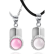 Couples' Silver Necklace Anniversary/Birthday/Gift/Daily/Causal Opal