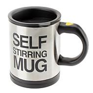 Automatisk kaffeblanding kopp / krus drikkevare rustfritt stål kaffekopper selvrørende elektrisk krusknapp