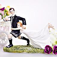 "bolo de coco do chapéu de coco do bolo ""casamento por amor"" Futebol / Rugby casal"