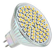 3W GU5.3(MR16) Lâmpadas de Foco de LED MR16 60 SMD 3528 250 lm Branco Quente DC 12 V