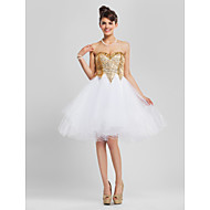 TS Couture Cocktail Party Homecoming Prom Sweet 16 Dress - Sparkle & Shine A-line Ball Gown Princess Strapless Sweetheart Knee-length