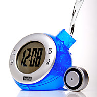 Eco Grønn Water Powered Digital Clock Kalender (tilfeldig farge)