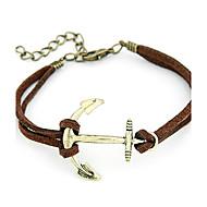 Men's/Unisex/Women's Cuff Bracelet Alloy/Rope