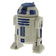 8GB R2-D2 Robot High-speed USB 2.0 Flash Pen Drive Gray