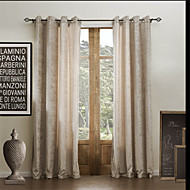 Two Panels  Solid Classic Chenille Rayon Eco-friendly Curtain