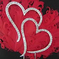 """Kuchendeckel """"double hearts"""" Strass Monogramm Kuchendeckel"""