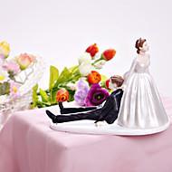 szczęśliwa panna młoda tort wykaszarki& Pan młody ciasto topper