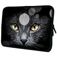 """Black Cat Face""Pattern Nylon Material Waterproof Sleeve Case for 11""/13""/15"" Laptop&Tablet"