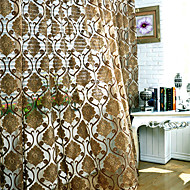 AnTi™ (Two Panels) European Floral Energy Saving Sheer Curtain