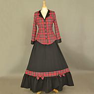 Long Sleeve Floor-length Black Cotton School Lolita Dress