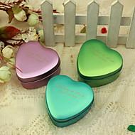 personnaliser coeur en forme de boîte en métal faveur - de petite taille (jeu de 24)