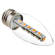 3W E26/E27 LED Candle Lights C35 16 SMD 5050 180 lm Warm White Decorative AC 220-240 V