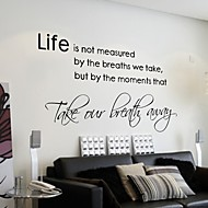 Life isn't about Waiting for the Storm to Pass Wall Sticker