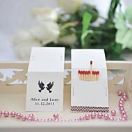 decoração do casamento matchbooks personalizados - aves (conjunto de 25)