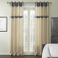 Two Panels  Mediterranean Geometric Rayon Curtain