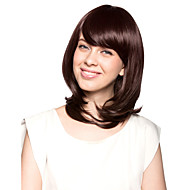 Capless Shoulder-length Top Grade Quality Synthetic Chocolate Brown Bob Style Morden Hair Wig