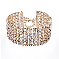 Women's Cuff Bracelet 18K Gold Plated Crystal