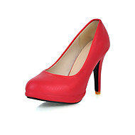 Women's Shoes Round Toe Stiletto Heel Pumps Shoes