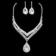 Conjunto de jóias Cristal/Strass Liga Mulheres