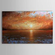 Handgemaltes Ölgemälde Landschaft Meer mit gestreckten Rahmen 1306-LS0333