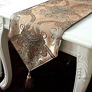 Style Jacqard Poly soie Polyester coureurs européens de table