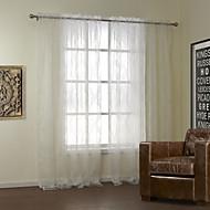 Neoklasicistní dva panely květinovými botanické bílá ložnice polyester naprostý záclony rolet