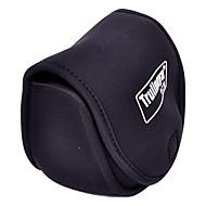 Trulinoya-Portable-Spinnrad Shaped Schwarz Fishing Reel Bag