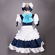 Inspired by TouHou Project Sakuya Izayoi Video Game Cosplay Costumes Cosplay Suits Patchwork White Dress