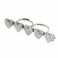 Attractive Alloy Heart Shaped Women's Ring