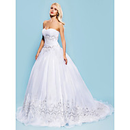Lanting Bride Ball Gown Petite / Plus Sizes Wedding Dress-Court Train Sweetheart Organza