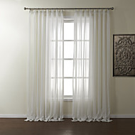 twopages® to paneler stribe polyester Jacquard sheer curtain