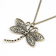 Fashion Alloy With Dragonfly Shaped Pendant Sweater Chain Women's Necklace