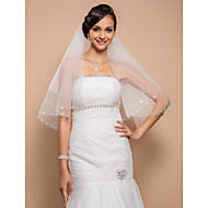 One-tier Elbow Veil With Cut Edge(More Colors)