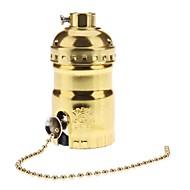 e26 cor dourada titular soquete do bulbo base da lâmpada com interruptor