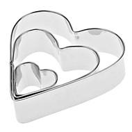 Bagning & Konditorispatler Hjerte Til Kage Til Cookies Til Tærte Rustfrit stål Miljøvenlig Høj kvalitet Valentinsdag