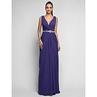 TS Couture® Prom / Formal Evening / Military Ball Dress - Open Back Plus Size / Petite Sheath / Column V-neck Sweep / Brush Train Chiffon