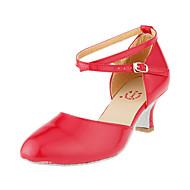 Non Customizable Women's Dance Shoes Modern/Ballroom Paillette Stiletto Heel Red