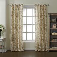 poupança forrado cortina de energia floral dois painéis do país do verão